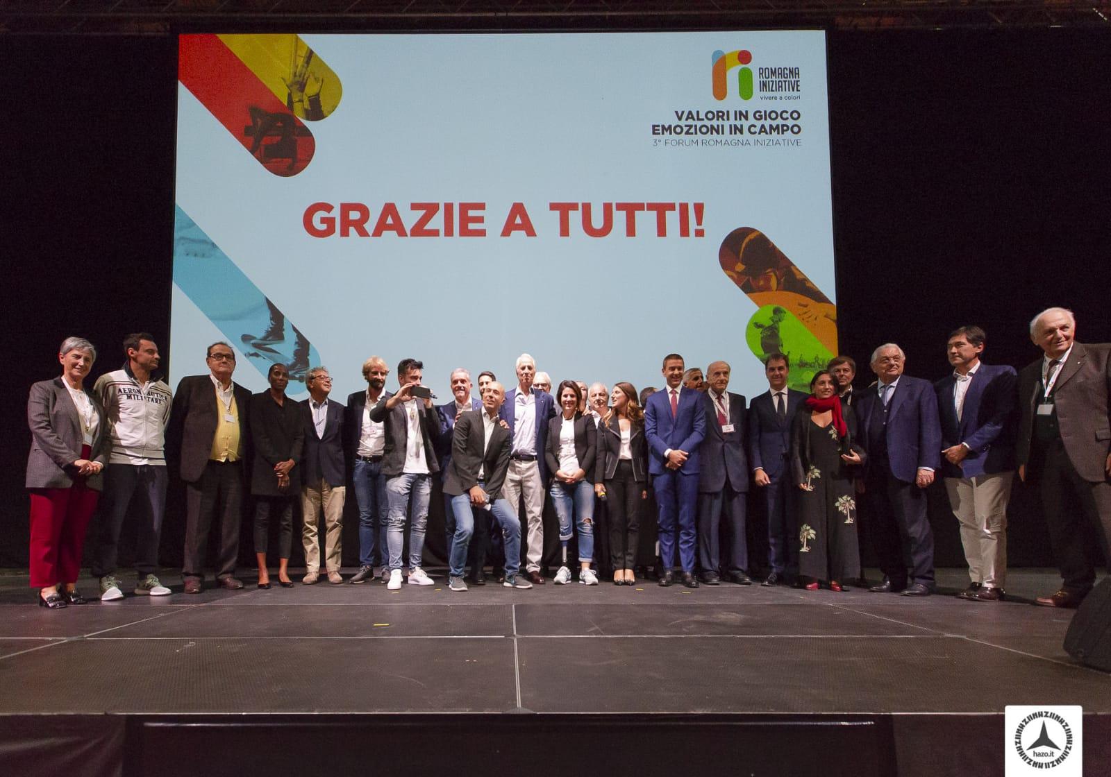 I grandi atleti italiani e il mondo della scuola insieme a cesena per celebrare i valori unici dello sport