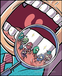 batteri bocca dentista