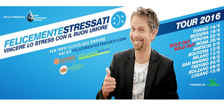 """""""Felicemente Stressati"""" con Terenzio Traisci a Milano"""