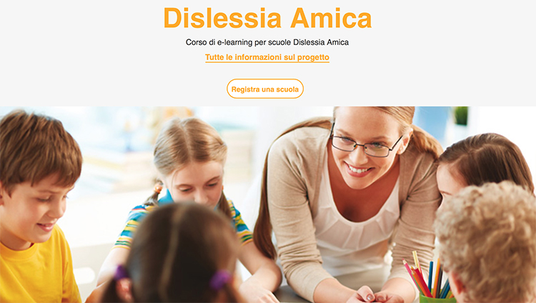 """Corso gratuito di e-learning per le scuole """"Dislessia Amica"""""""