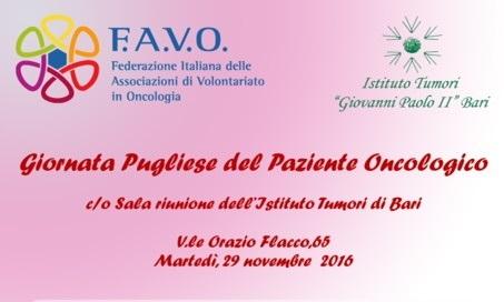 """L'Istituto """"Giovanni Paolo II"""" di Bari celebra la prima Giornata Pugliese del Paziente Oncologico"""