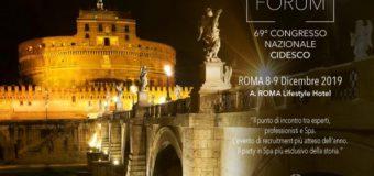 SPA&BEAUTY FORUM 2019 – 69° CONGRESSO NAZIONALE CIDESCO ROMA 8-9 Dicembre 2019
