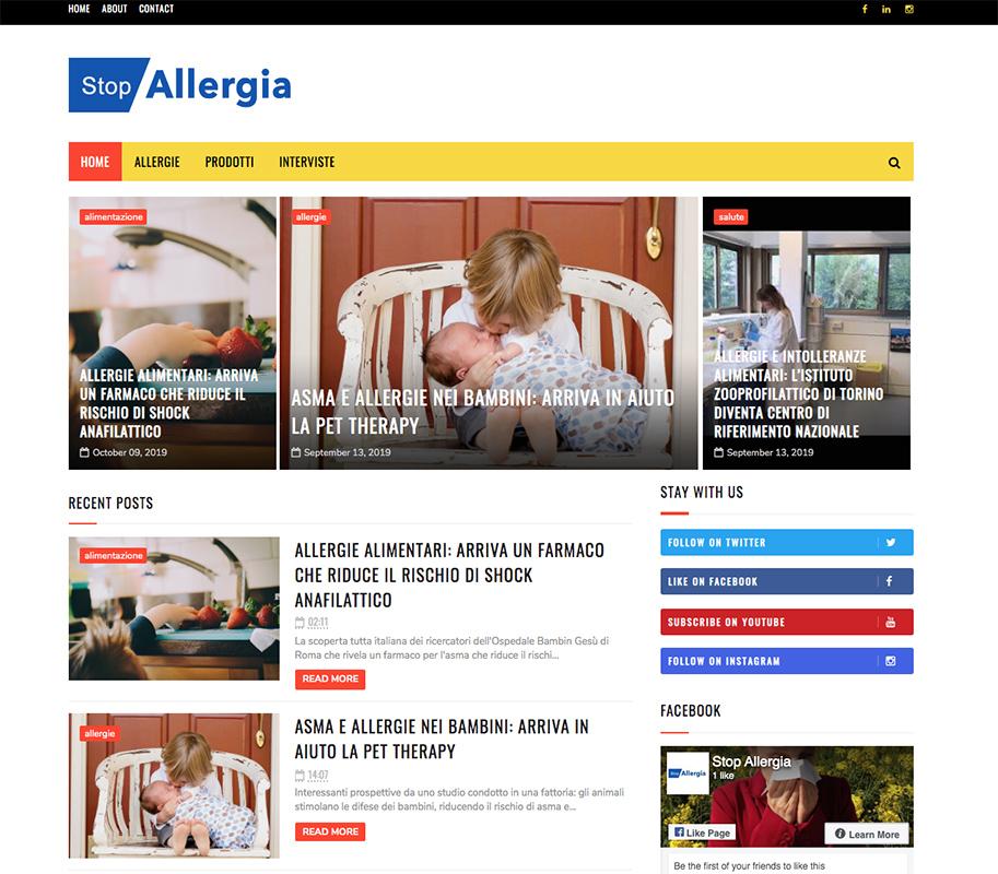 La rivista Stop Allergia